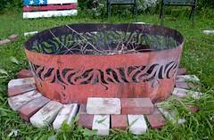 P1110645 (150hp) Tags: amanda dan plasma cutting hands art studio fish creek fuel oil tank upcycling fire pit ring handmade goldfish panasonic lx3