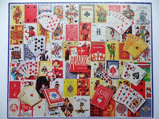 Playing Cards, White Mountain, 1000 pieces