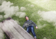 75/365 (Chris Gray Photo) Tags: clouds grass outdoors fall people portrait sky birdseye portraiture conceptual fineart selfportrait self canon 365project