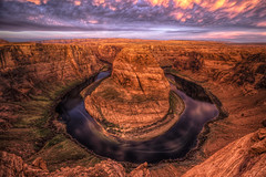 Horshoe Bend at Dawn (x-ray tech) Tags: dawn flicker interesting interestingness explore horshoe bend colorado river canon 5d mark ii ef 1635mm arizona page sky landscape awesome nice beautiful capture composition hdr high dynamic range photoshop