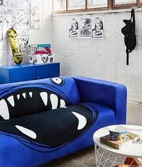 The Monster Klippan Covers by Artefly (arteflycom) Tags: ikea klippan cover slipcover artefly monster blue pillow cushion couch sofa seater settee cotton home decor design style