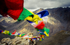 Prayer on a flag (pratikypatil) Tags: canon eos 600d leh ladakh india outdoor color mountains nature landscape flickr himalaya