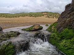 Holywell Bay Stream (Ian Gedge - Thanks for 1 Million views) Tags: england uk britain cornwall kernow holywell bay beach sand dunes stream rocks