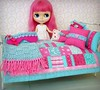 Beautiful New Bedding (Leslieshappyheart) Tags: ichigoheaven ellie quilt blythe