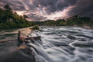 The splendor of the Rheinfall
