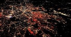 Paris - so fragile from above! (sakarip) Tags: paris france night lights flying sky 10000m 10kmhigh nightlights sakarip fragile streets