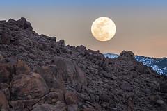 Alabama Hills Moonrise (jthight) Tags: d500 california landform inyomountains landscape march sky nikond500 alabamahills moonrise vrzoom28300mmf3556gifed moon clouds sunset lightroom rocks lonepine unitedstates us
