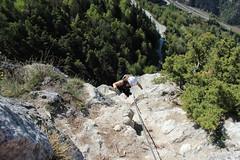 via ferrata, Nax (bulbocode909) Tags: valais suisse nax viaferrata belvédère montagnes nature forêts arbres printemps vert gens montnoble