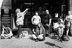 (jsrice00) Tags: leicammonochrom246 28mmf2summicronasph streetphotography louisville berniesandersrally hippies peace love