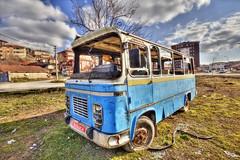 Old Wehicle (Ömer Ünlü) Tags: old car bus vintage antique crash accident trip street travel transform city urban blue life ömerünlü