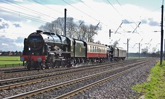 LMS to Grosmont (paul_braybrook) Tags: 46100 royalscot lms 45407 class5 black5 steamlocomotive copmanthorpe york northyorkshire nymr grosmont railway trains