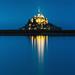 Blue Hour ... (Ludovic Lagadec) Tags: montsaintmichel normandie 7020028isl canon6d seascape sky bleue bluehour heurebleue merveille architecture reflets reflection