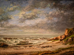 Gustave Courbet - View of a Rough Sea near a Cliff, 1873 at Princeton Art Museum Princeton NJ (mbell1975) Tags: princeton newjersey unitedstates us gustave courbet view rough sea near cliff 1873 art museum nj museo musée musee muzeum museu musum müze finearts fine arts gallery gallerie beauxarts beaux galleria new jersey painting french