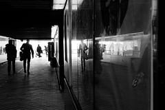 train station (Seedeich) Tags: 185mmf18n1 j5 vejle bw reflection street