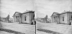 """""""One-storey building, possibly a railway station, with steps, and 4 column, Ionic portico"""" is Armagh Courthouse (National Library of Ireland on The Commons) Tags: thestereopairsphotographcollection lawrencecollection stereographicnegatives jamessimonton frederickhollandmares johnfortunelawrence williammervynlawrence nationallibraryofireland buildingwithportico foursteps fourcandles ireland possiblecataloguecorrection locationidentified armagh court courthouse countyoffices francisjohnston"""