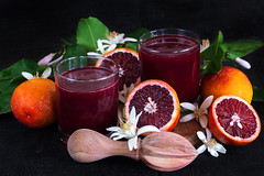 Blood ornage juice (Speleolog) Tags: drink fruit glass citrus orange blood juice red ripe black vitamin cocktail refreshment juicy beverage bloody healthy sweet wooden freshness tropical fresh food alcohol bar ingredient shiny vibrant slice wine liquid squeezed water cold half organic raw leaves branches spray vegan exotic cool freshly fruity sicilian summer sunrise background flower flordeorange blossom
