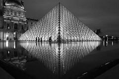 The Louvre diamond (deborahb0cch1) Tags: monochrome blackandwhite architecture museum musée noiretblanc geometric symmetry paris louvre muséedulouvre night nuit nuitàparis