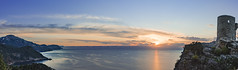Banyalbufar 00149-Pano (Sebas Adrover) Tags: baleares balearicislands balears banyalbufar españa illesbalears mediterranean mediterrani mediterráneo spain unesco espanya ocaso paisaje paisatge puestadesol serradetramuntana sunset es