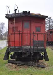 Coldwater, Michigan ( 6 of 10) (Bob McGilvray Jr.) Tags: coldwater mi michigan caboose wood wooden red cupola railroad train tracks bo baltimoreohio littleriverrailroad