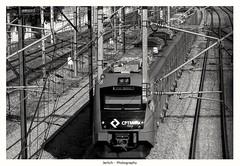 Railway - CPTM (Marcos Jerlich) Tags: railway cptm saopaulo trains series8000 companycaf urban 7dwf mono bnw bw blackandwhite monochrome blancoynegro lightroom canon canont5i efs1855mm marcosjerlich