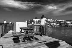 Don't Worry, Be Happy (RobMatthews) Tags: bahamas hopetown bw monochrome