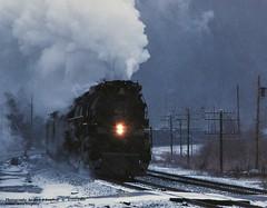 CO 614T Pratt, WV 1-11-85 (jackdk) Tags: train railroad railway locomotive steam steamlocomotive steamtrain 484 co chessie chessiesystem chesapeakeandohio chessiesteamspecial greenbrier coal coaltrain coaldrag snow 614 614t pratt prattwestvirginia