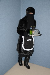 Slave Waitress (Warm Clothes Fetish) Tags: slave waitress maid apron hot winter sweat torture anorak coat fur niqab hijab burka chador girl boots