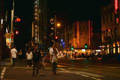 Haymarket (Chinatown) near the George and Sussex street intersections at night -  (Sydney NSW Australia) 2017 (nicephotog) Tags: haymarket nsw sydney night city urban public people chinatown