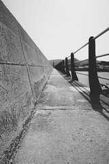vanishing point (christian mu) Tags: architecture monochrome mallorca spain calaratjada harbour bw