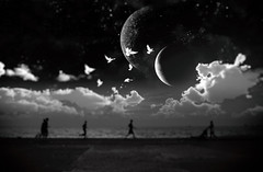 moons shine (before zεn) Tags: outdoors beach nightshot planet activities monochrome sureal life