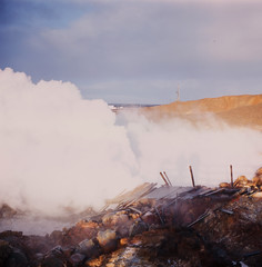 Geothermal activity, Reykjanes, Iceland (Balthasar Phragmites) Tags: steam humid geothermal activity smoke air scent smell ruins iceland fire reykjanes horizon pentaconsix pentacon six carl zeiss jena biometar 80mm f28 120film roll medium format mittelformat középformátum fuji fujifilm provia 100 6x6 analog analogphotography analogcamera analogphotohrapher noise grain film filmphotography issf istillshootonfilm issfcommunity filmisnotdead celluloid zomeifilter zomei filter slidefilm squareformat
