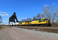 Twins at the Tower (JayLev) Tags: cnw twins 8646 8701 dekalb coaling coal tower chute