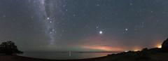 Moonset on Tangadiou Beach, Milky Way and Jupiter - Koumac - New Caledonia (2L-NC) Tags: sony a7s samyang 24mm