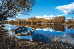barque (Bruno. Thomé) Tags: pentaxk1 smcfa24mmf20 paysage barque rivière france indreetloire