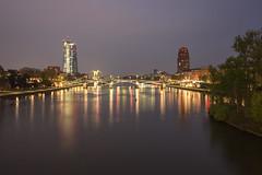 IMG_8408 (annettemeyer85) Tags: frankfurt mainhatten skyline stadt sonne main ezb nachtaufnahme