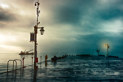 Santa Barbara Pier. (danielledufour430) Tags: california santabarbara westcoast pacific pier morning cloudy dock boat wet beautiful bay rainy weather ocean water sonya6000