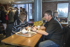 Together in Electric Dreams (the underlord) Tags: albertdock coffeeshop couple candid together separate internet engaged olympustoughtg4 actioncamera