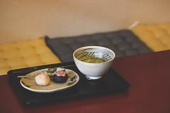 Sakura Sweets and Green Tea 🌸🍵 (S♡C) Tags: sakura cherryblossoms japanesesweets japanesegreentea maccha wagashi kanazawa higashichayagai