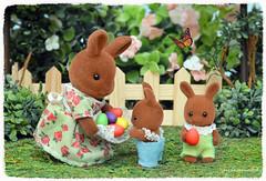 Sylvanian Families - Easter Bunnies (Sylvanako) Tags: easter sylvanian happy eggs bunny rabbit