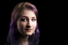 Julia 4 (Bernedti) Tags: canon portrait people woman teen girl canon5dsr 5dsr lowkey flash flashphotography photography beauty hair studio lensbaby edge50