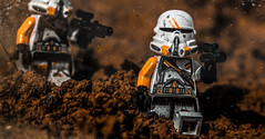 Desert Scars (Lego_LUTs) Tags: yellow green storm trooper star wars war lego outdoors clone troopers first order blasters afol minifigs minifigures bricks blocks canon toy toys force legos t3i republic people photoadd atst death rogue one dirt practical effects orange
