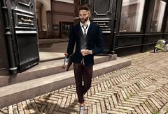 Morten Outfit (shine & sharp by [ZD]) Tags: sharp by zd morten mesh outfit signature slink male fashion slacks pants blazer tie shirt
