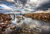 Shelter (Nejdet Duzen) Tags: trip travel nature turkey boat rocks stream cloudy türkiye sandal izmir mordoğan dere turkei seyahat doğa bulutlu kayalık ilobsterit