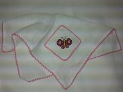 Fralda de Boca - Borboleta F006 (SaluArts) Tags: de pano cruz infantil beb boca ponto paninho fralda fraldinha enxoval