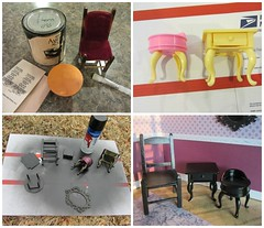 (12) Trash to Treasure with Spray Paint (Foxy Belle) Tags: scale frozen miniature bedroom paint furniture barbie plastic how 16 elsa diorama dollhouse