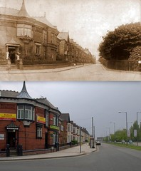 Arkles Lane, Anfield, 1908 and 2014 (Keithjones84) Tags: liverpool anfield merseyside thenandnow oldliverpool rephotography