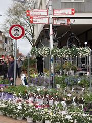 Boemetjesmarkt Groningen (Jeroen Hillenga) Tags: netherlands market groningen markt fiets wegwijzer bloemetjesmarkt goedevrijdag