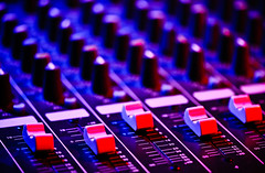 Audio Mix (Lisa Padilla) Tags: blue music macro broadcast analog digital studio switch mix technology control panel bokeh soundboard mixer depthoffield professional equipment level controls sound button record production editing mixing knob electronic knobs console audio hifi channel volume fader equalizer frequency adjust mixingdesk