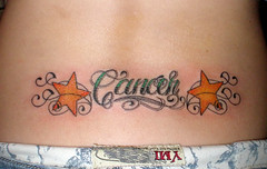 Yellow Stars And Cancer Tattoo On Lowerback (tattoos_addict) Tags: yellow tattoo stars cancer lowerback startattoo startattoos