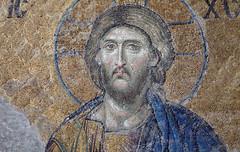 Christ, Deësis mosaic (bust), Hagia Sophia